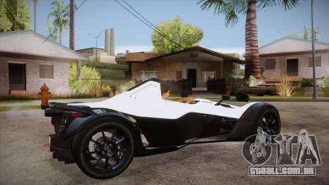 BAC Mono 2011 para GTA San Andreas vista direita