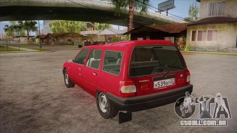 IZH 21261 Fabula BETA para GTA San Andreas traseira esquerda vista