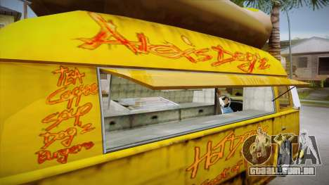Hot Dog Van Custom para vista lateral GTA San Andreas