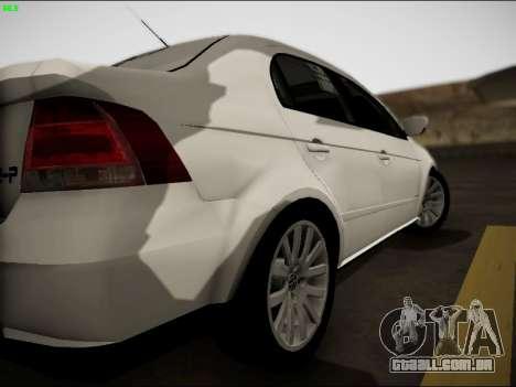 Volkswagen Voyage Taxi para GTA San Andreas vista direita
