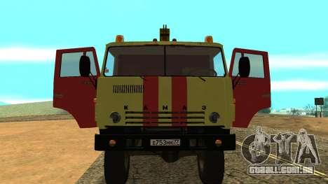 Caminhão de reboque 43114 KAMAZ para GTA San Andreas vista traseira