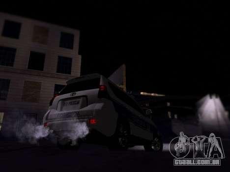 Toyota Land Cruiser POLICE para GTA San Andreas vista direita