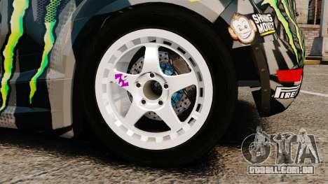 Ford Fiesta Gymkhana 6 Ken Block [Hoonigan] 2013 para GTA 4 vista interior