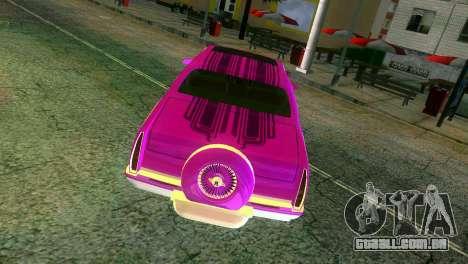 Cadillac Fleetwood Coupe para GTA Vice City vista superior