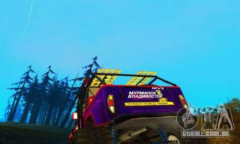 UAZ Hunter julgamento para GTA San Andreas vista superior