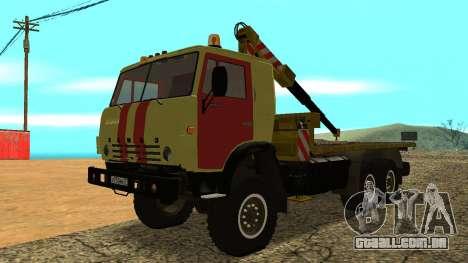 Caminhão de reboque 43114 KAMAZ para GTA San Andreas
