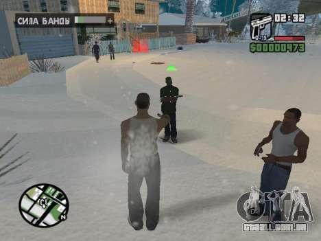 Alternar entre personagens como em GTA V para GTA San Andreas oitavo tela