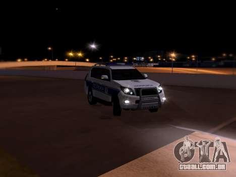 Toyota Land Cruiser POLICE para GTA San Andreas vista superior