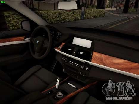 BMW X5M para GTA San Andreas vista interior