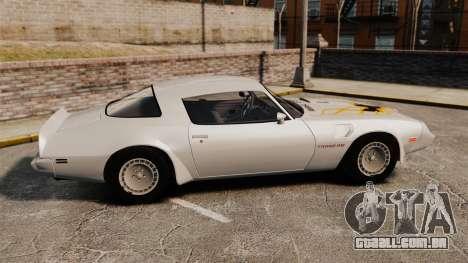 Pontiac Turbo TransAm 1980 para GTA 4 esquerda vista