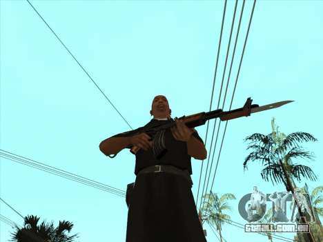 AKMS com baioneta-faca para GTA San Andreas por diante tela