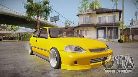 Honda Civic 1998 Tuned para GTA San Andreas vista traseira