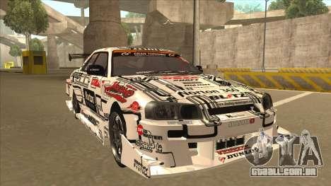 Nissan Skyline ER34 Uras GT Blitz 2009 para GTA San Andreas esquerda vista
