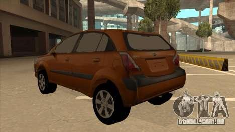 KIA RIO II 5 DOOR para GTA San Andreas vista traseira
