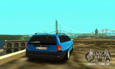 Opel Astra F Caravan para GTA San Andreas vista traseira
