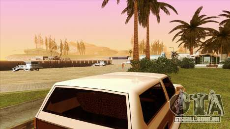 Rancher Bronco para GTA San Andreas vista interior