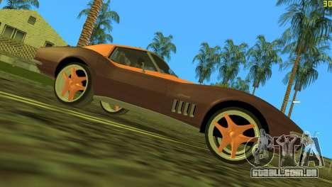 Chevrolet Corvette C3 Tuning para GTA Vice City vista traseira esquerda