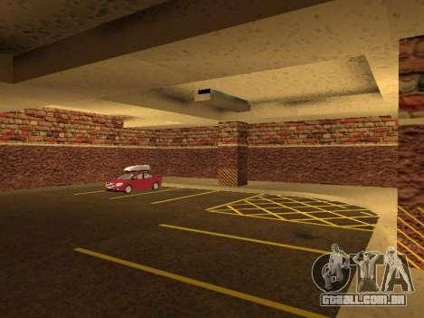 Nova garagem interior polícia HP para GTA San Andreas sexta tela