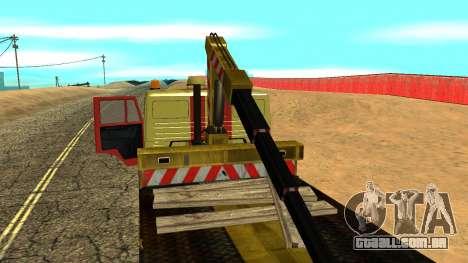 Caminhão de reboque 43114 KAMAZ para GTA San Andreas vista superior