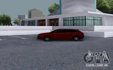 Audi RS4 para GTA San Andreas traseira esquerda vista