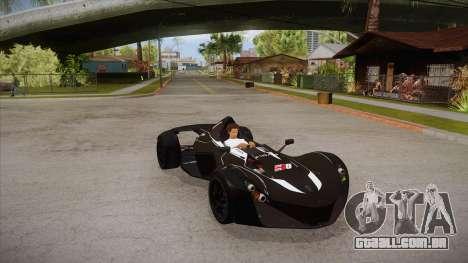 BAC Mono 2011 para GTA San Andreas vista interior