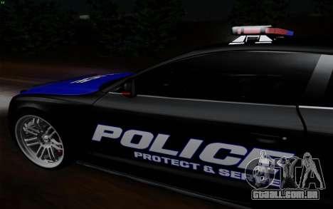 Audi RS5 2011 Police para GTA San Andreas traseira esquerda vista