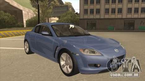 Mazda RX8 Tunable para GTA San Andreas esquerda vista