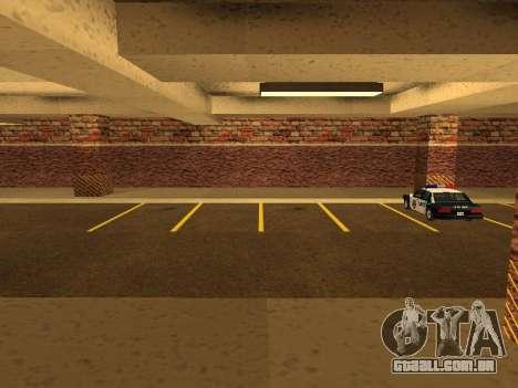 Nova garagem interior polícia HP para GTA San Andreas segunda tela
