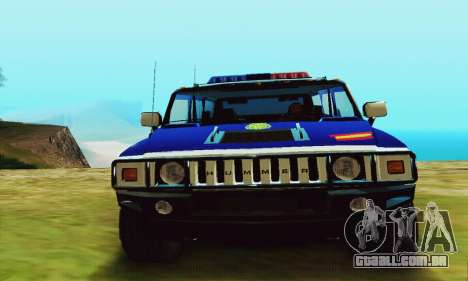 Hummer H2 G.E.O.S. para GTA San Andreas vista direita