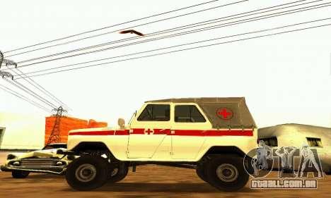 UAZ 469 ambulância para GTA San Andreas esquerda vista