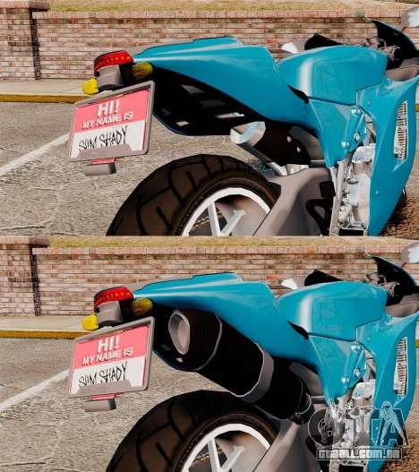 Ducati Desmosedici RR 2012 para GTA 4 vista interior