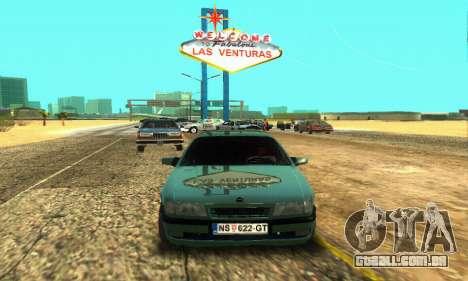 Opel Vectra A para GTA San Andreas esquerda vista