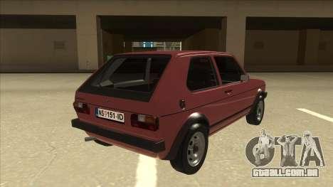 Volkswagen Golf 1 TAS para GTA San Andreas vista direita