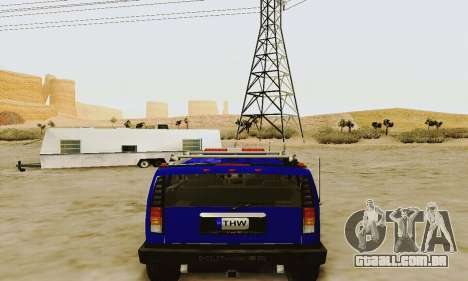 THW Hummer H2 para GTA San Andreas vista direita