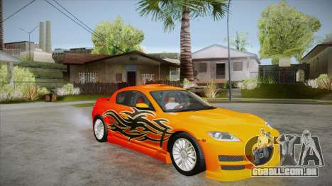 Mazda RX8 Tunnable para GTA San Andreas vista superior