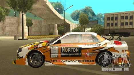 Nissan Skyline ER34 Uras GT Blitz 2010 para GTA San Andreas vista traseira