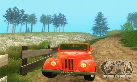 GAZ 69 Pickup para GTA San Andreas traseira esquerda vista