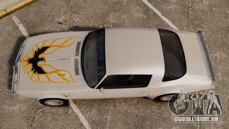 Pontiac Turbo TransAm 1980 para GTA 4 vista direita