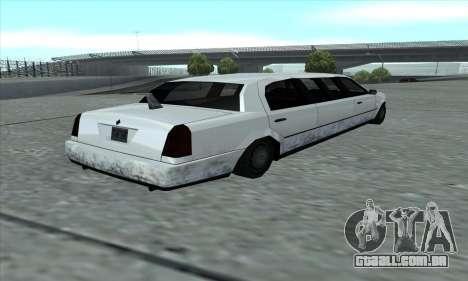 O trecho de GTA 5 para GTA San Andreas traseira esquerda vista