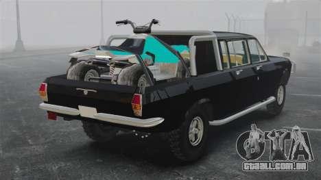 GAZ 2402-4 x 4 pick-up para GTA 4 traseira esquerda vista