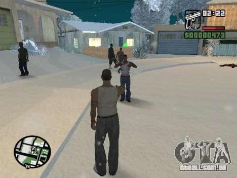 Alternar entre personagens como em GTA V para GTA San Andreas sétima tela