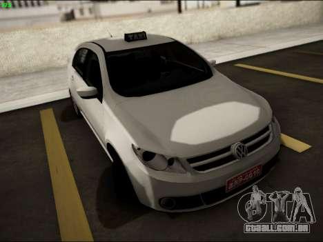 Volkswagen Voyage Taxi para GTA San Andreas vista traseira