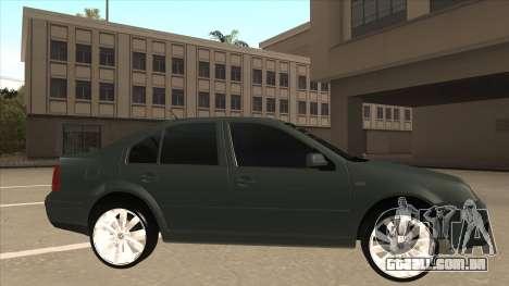Jetta 2003 Version Normal para GTA San Andreas traseira esquerda vista