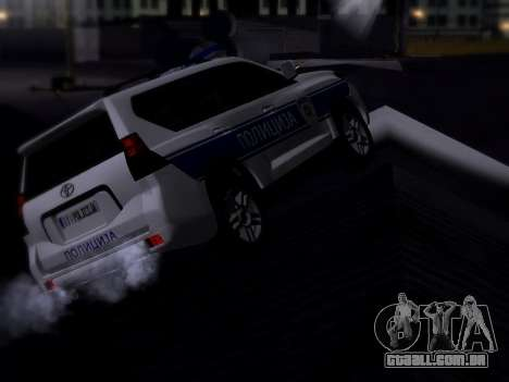 Toyota Land Cruiser POLICE para GTA San Andreas traseira esquerda vista