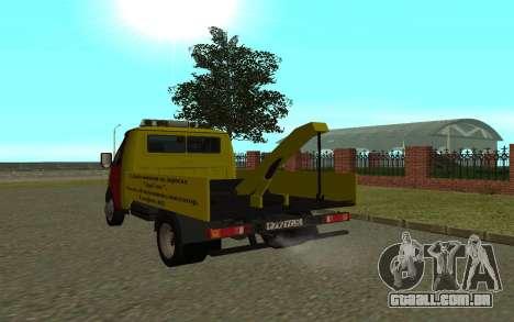 3302 gazela reboque negócios para GTA San Andreas vista direita