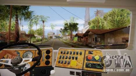 International 4700 para GTA San Andreas vista interior