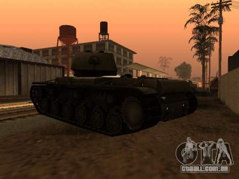 KV-1 para GTA San Andreas traseira esquerda vista