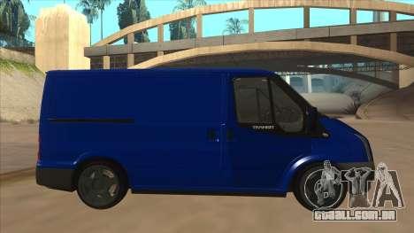 Ford Transit Swb 2011 Stance para GTA San Andreas traseira esquerda vista