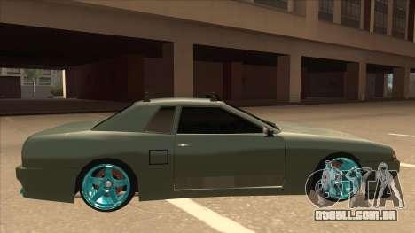 Elegy Hellaflush para GTA San Andreas traseira esquerda vista