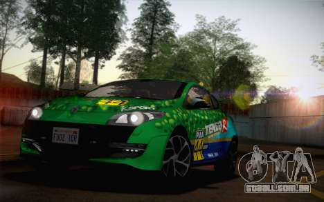 Renault Megane RS Tunable para GTA San Andreas vista interior